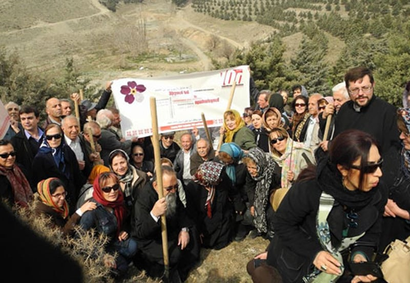 """Sohanak"" Park 100 Trees in Memory of the Armenian Genocide Centennial in Tehran 1"