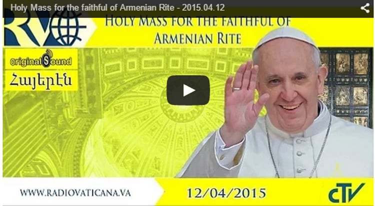 Live from Vatican – Holy Mass for the faithful of Armenian Rite 1