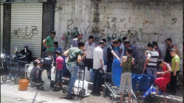 Aleppo without water since June 23. Photo by @ProSyriana Twitter.com