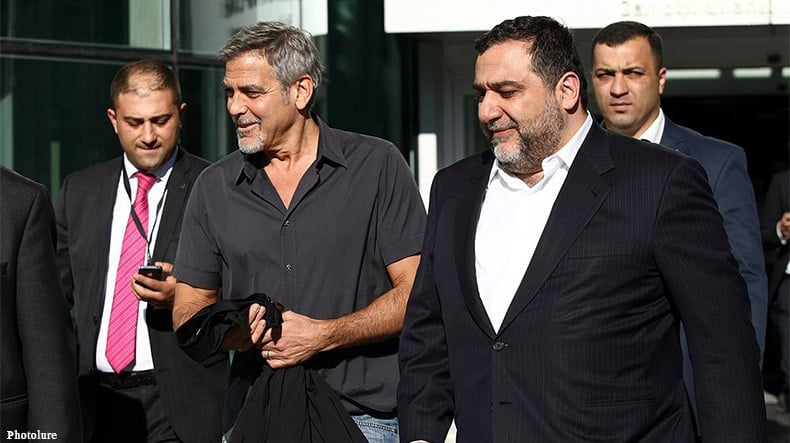 George Clooney arrives in Yervan Armenia