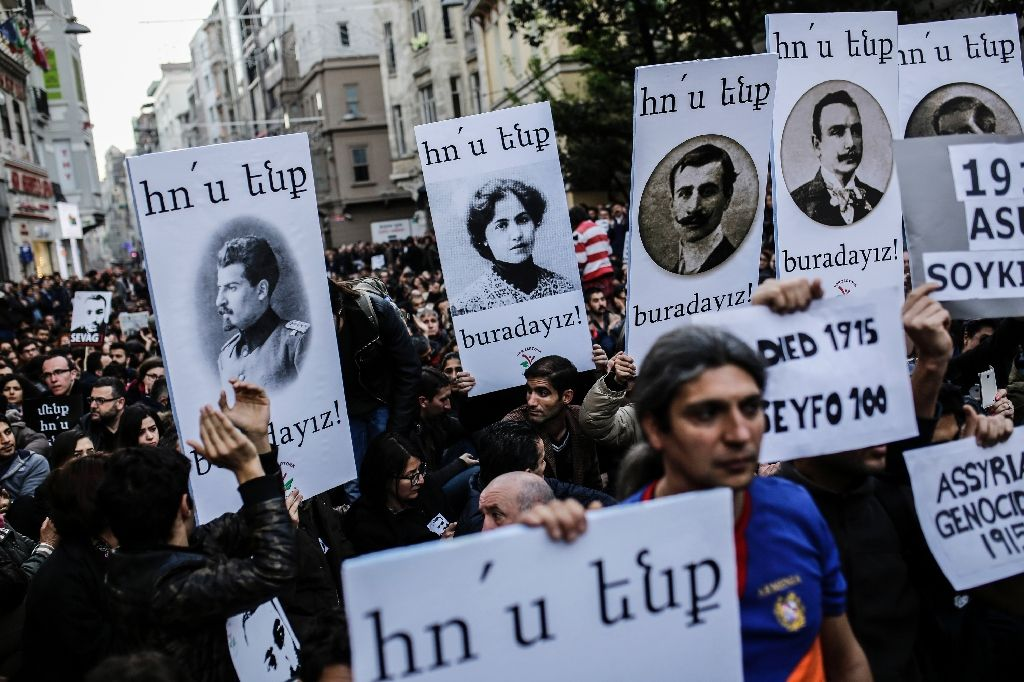 Turkey has long rejected Armenian claims that the killing of up to 1.5 million of their kin as the Ottoman Empire fell apart be classed as a genocide (AFP Photo/Yasin Akgul)
