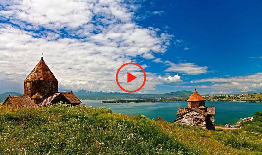Sevanavank on Sevan Lake