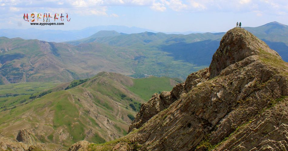 Nari-Asya-standing-on-cliff-mount-zevazhayr